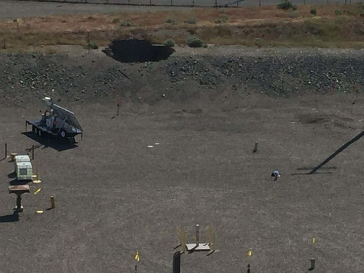 The U.S. Department of Energy says some personnel were evacuated at the Hanford Site, a cleanup location in Washington. A tunnel containing contaminated railroad cars has caved in.