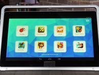 First look: Nabi Big Tab, the biggest Android kid tablet we've ever seen It's 20 or 24 inches, weighs at least ten pounds, and has kid-friendly apps and software. And it's large enough to double as a living-room TV for Netflix.