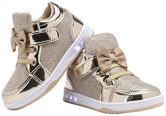 7f20d9452cece Amazon.com | YILAN YL313 Toddler Glitter Shoes Girl's Flashing ...
