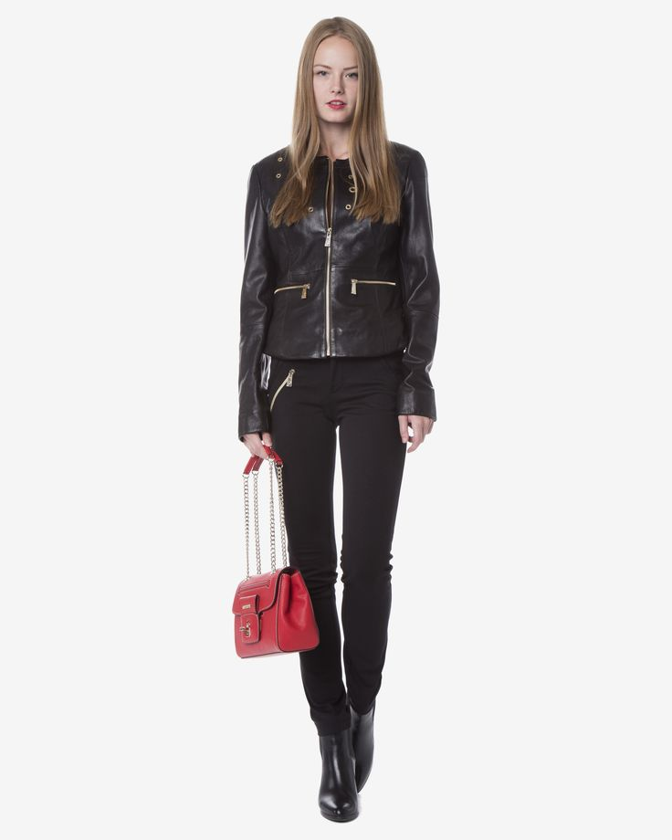 Versace Jeans - Geaca de piele eleganta