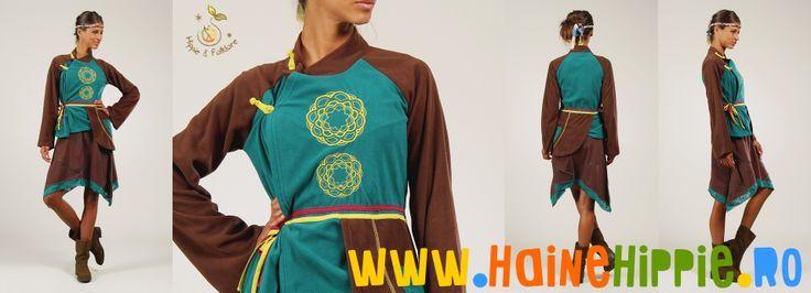 Oriental, etnic, hippie, urban chic..:)  ✿ http://www.hainehippie.ro/tunici-kurtha/828--tunica-etnica-din-polar-cu-broderie-tribala-.html ✿ ✿ Transport GRATIS la 2 hainute comandate ✿ ✿ Livrare in tara in 24h ✿ ✿ http://www.facebook.com/hainehippie ✿