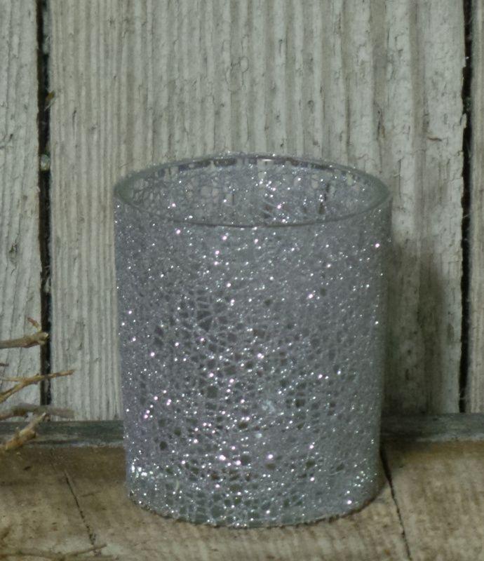Zilver waxinelichthouder