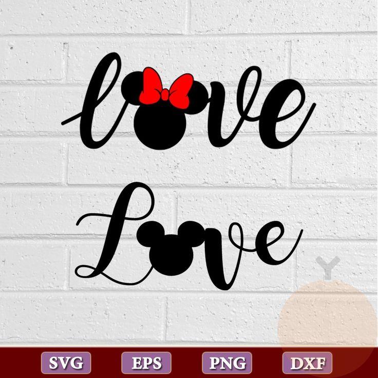 Download Love disney svg, Love svg,love mickey mouse svg, minnie ...