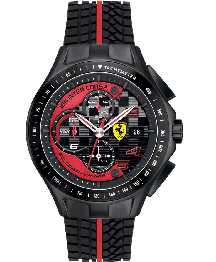 FERRARI Heritage Chronograph Black Rubber Strap Τιμή: 305€ http://www.oroloi.gr/product_info.php?products_id=35033