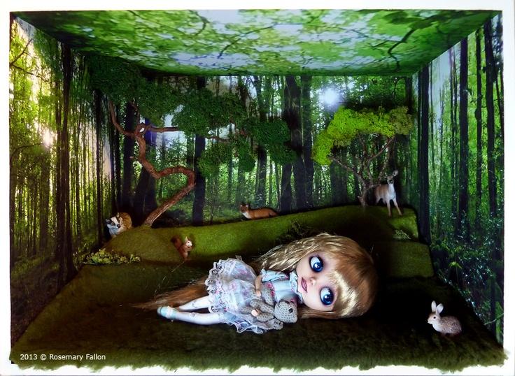 Sara - Custom Blythe / Doll Box - Lost Woods, artist Rosemary Fallon
