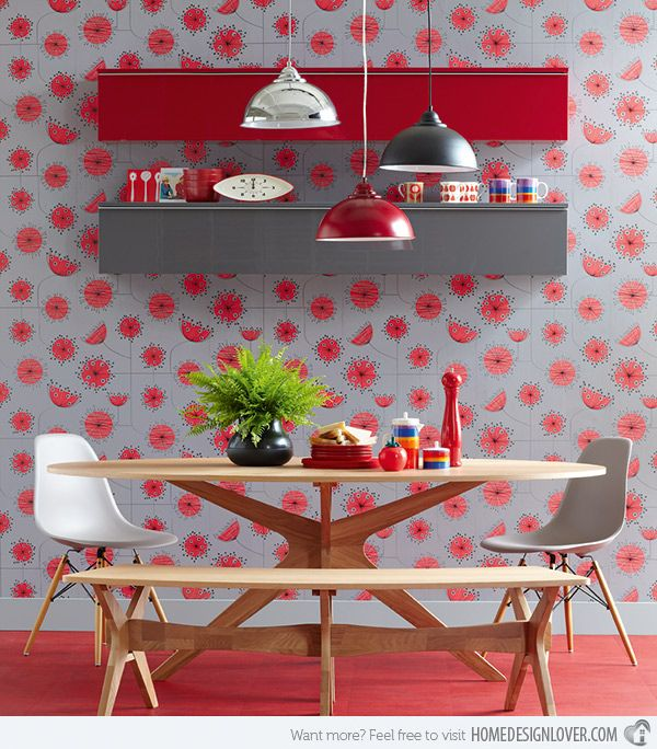 15 Kitschy Retro Dining Room Designs