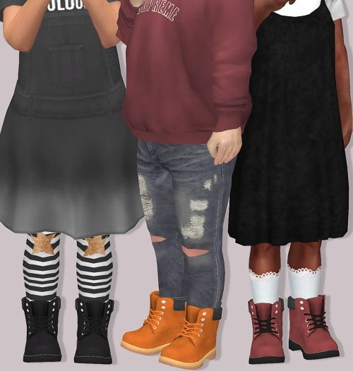 LumySims: Pixicat Timberland Boots for Toddlers • Sims 4 Downloads