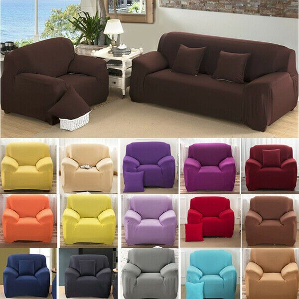 1 2 3 4 Sofa Covers Couch Stretch Elastic Slipcover Fabric Home Settee Protector Sofa Slipcover Ideas Of Sof With Images Slip Covers Couch Sofa Covers Slipcovered Sofa
