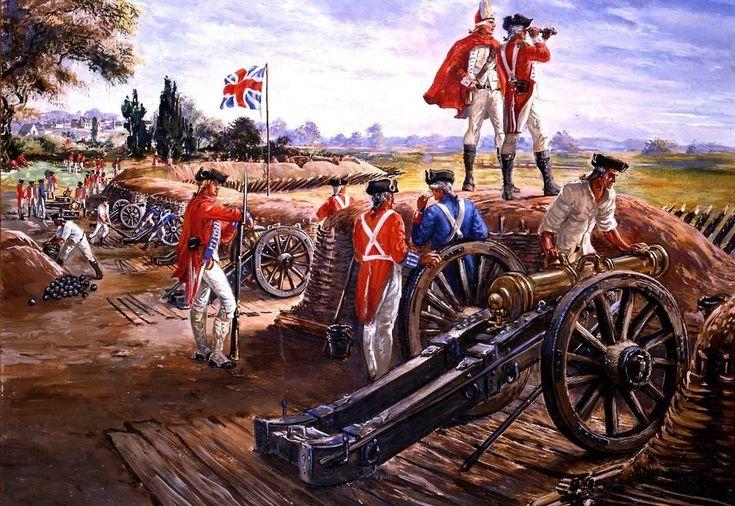 Artillería británica en Yorktown (1781) la batalla que puso fin a la Guerra de Independencia USA. http://www.elgrancapitan.org/foro/viewtopic.php?f=21&t=11680&p=918196#p918196