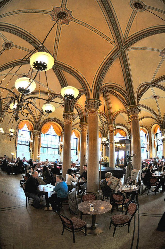 Café Central - a little pricey, but soooo beautiful! And the cake vitrine is splendid. Always a highlight on my visitors-in-town-for-the-day route.