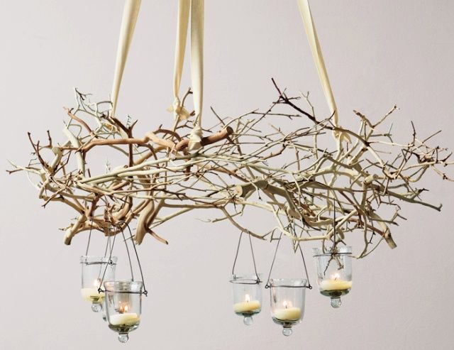 hang branches from the cieling for christmas - Bing Images