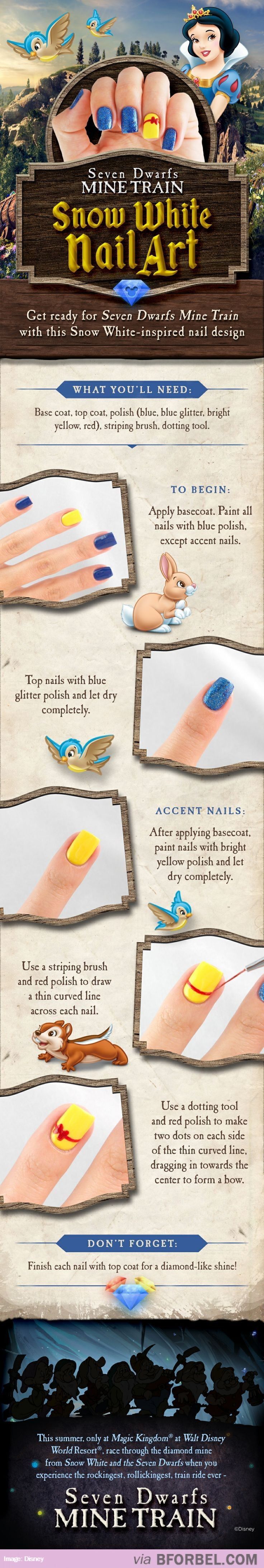 Snow White Nail Art…