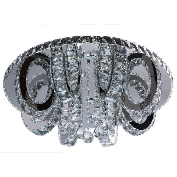 Moderne runde LED Deckenleuchte Kristall RegenBogen 498012312