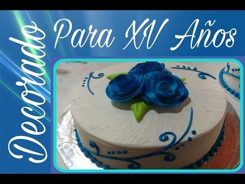 Pastel decorado para XV Años!!!! - YouTube