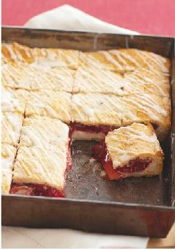 PHILADELPHIA-Cherry Danish Dessert – Skip the line at the bakeshop and make these scrumptious dessert squares at home. Prep time: just 15 minutes!