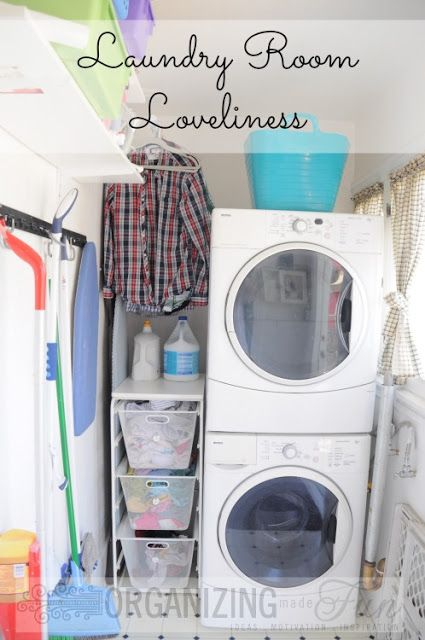 לסדר את חדר הכביסה Organized Laundry Room Loveliness and Giveaway! OrganizingMadeFun.com