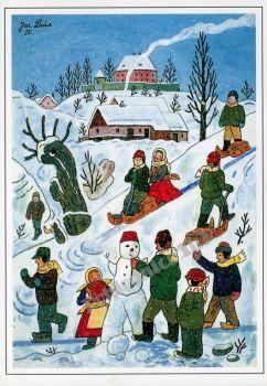 Josef Lada zima v obraze...Josef Lada Winter in the image ... (88 pieces)