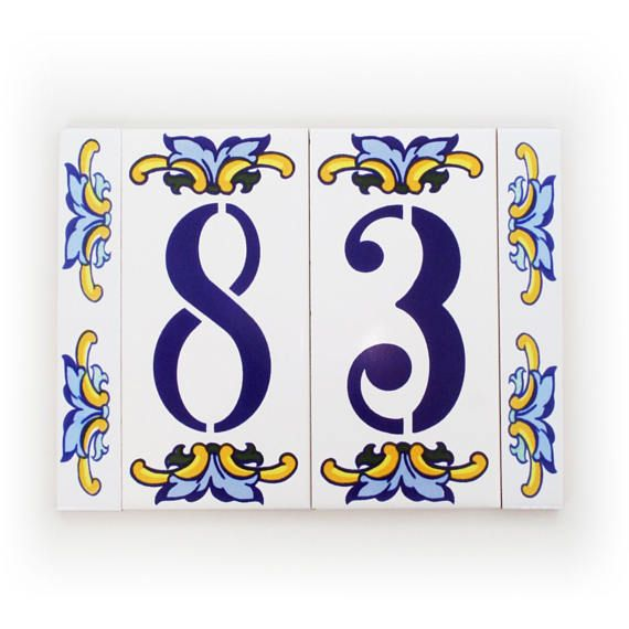 23 best Spanish ceramic tile house numbers and public signs images