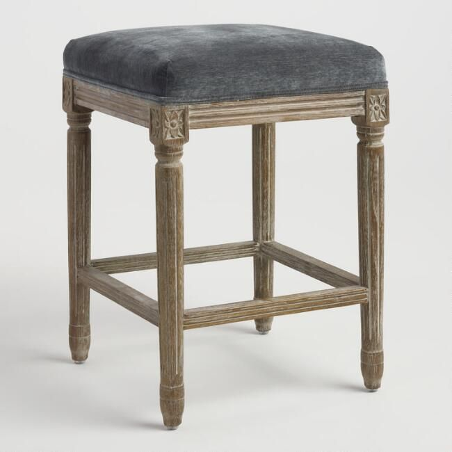 Coal Paige Backless Counter Stool V1 Counter Stools