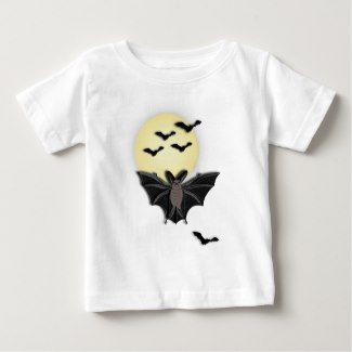 Bats Flying with the Moon Infant T-shirt | Zazzle