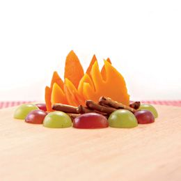 Cute campfire snack. I'm thinking VBS, the kids could create their own campfires...