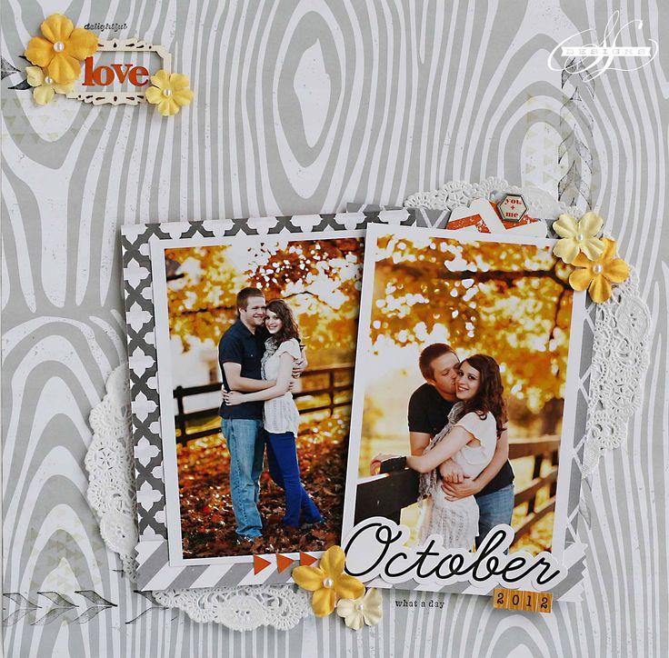 #papercraft #scrapbooking #layout    October Love - Scrapbook.com: