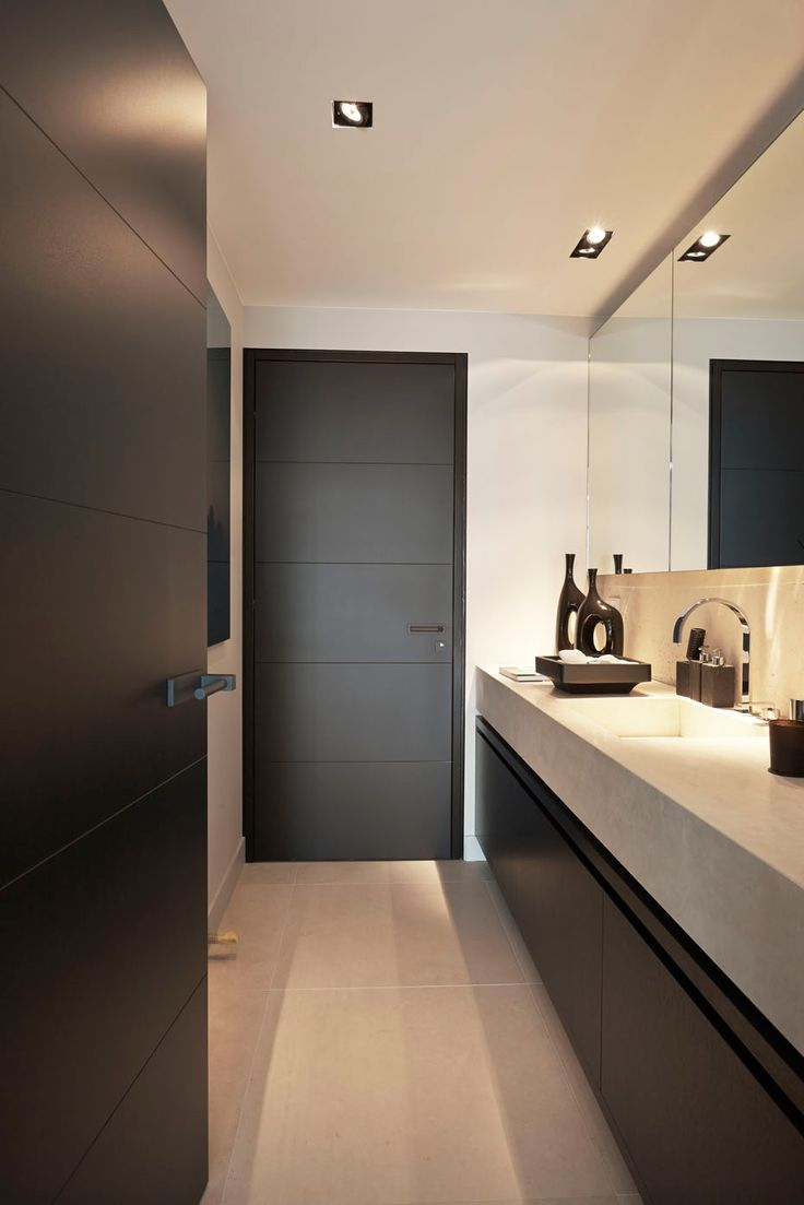 Project: Penthouse Den Haag by Eric Kuster Amber Brown in visgraat patroon