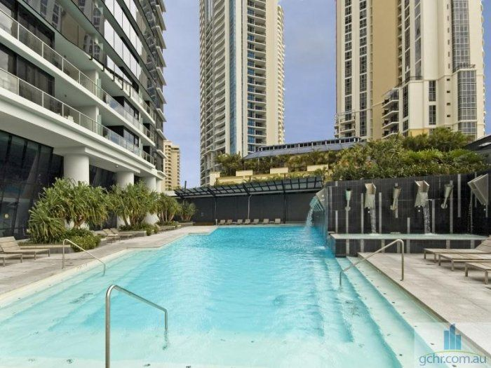 Circle on Cavill Swimming Pool - amazing facilities at this Surfers Paradise resort! See more at http://www.gchr.com.au/gold-coast-accommodation/circle/