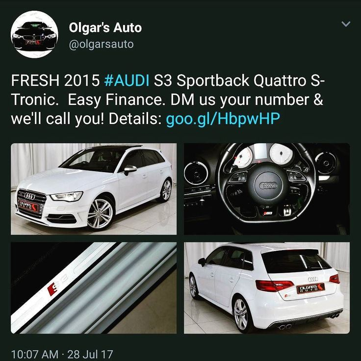 Don't forget to follow the #ATeam on Twitter @OlgarsAuto  #Audi #S3