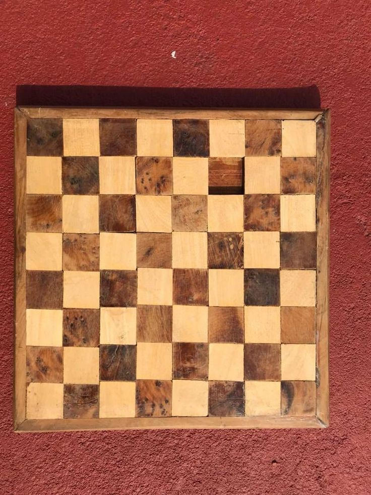 Antique Wood Chess Game Board Vintage Industrial Very vintage 2. inch