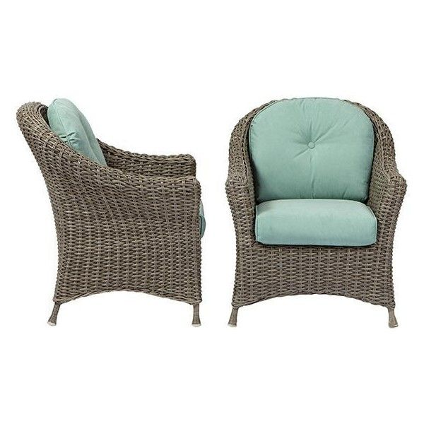 Martha Stewart Living? Lake Adela Porch Chairs - Set of 2 ($479) ❤ liked on Polyvore featuring home, outdoors, patio furniture, outdoor chairs, outdoor patio furniture, all weather patio furniture, outdoor garden furniture and outside patio furniture