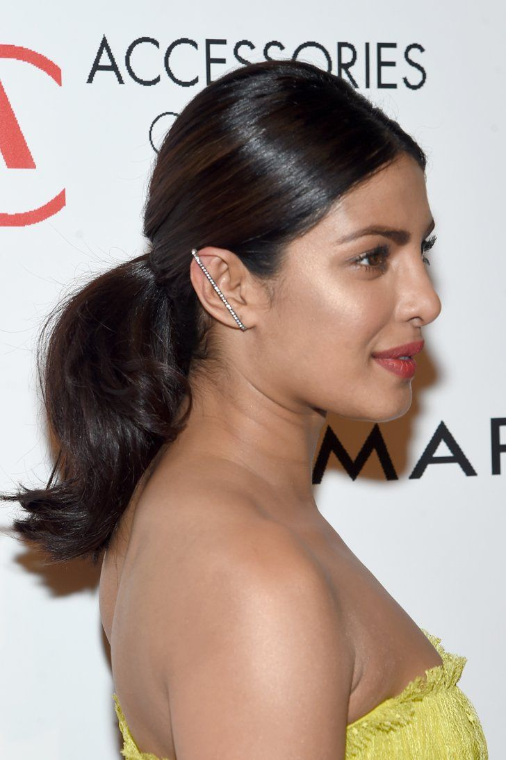 """Pin for Later: You've Totally Seen Priyanka Chopra's Dress Before — on a Disney Princess The Star Was Definitely an Edgier """"Belle"""" Ditching Earrings For an Ear Cuff"""