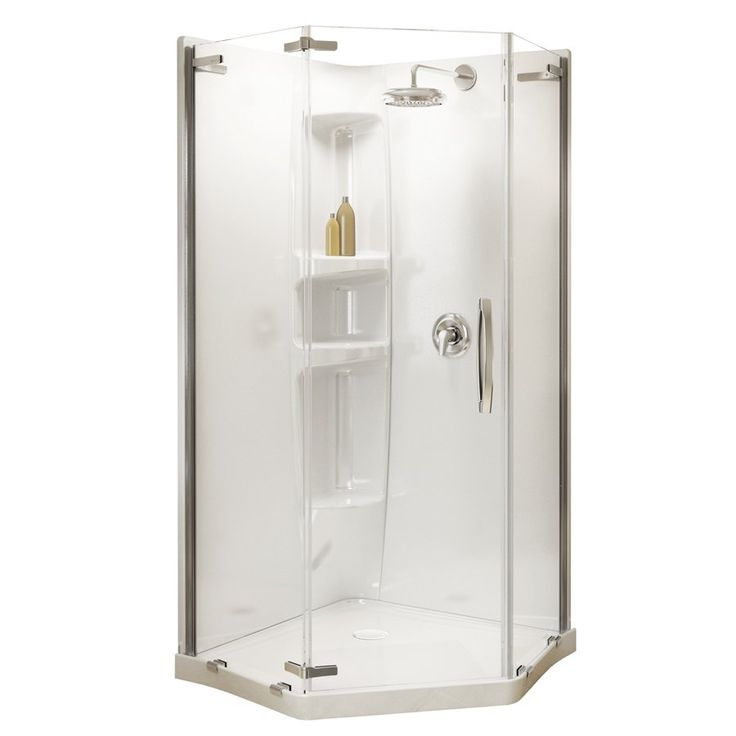 MAAX 77-in H x 37-in W x 36-in L White Neo-Angle 2-Piece Corner Shower Kit at Lowe's Canada