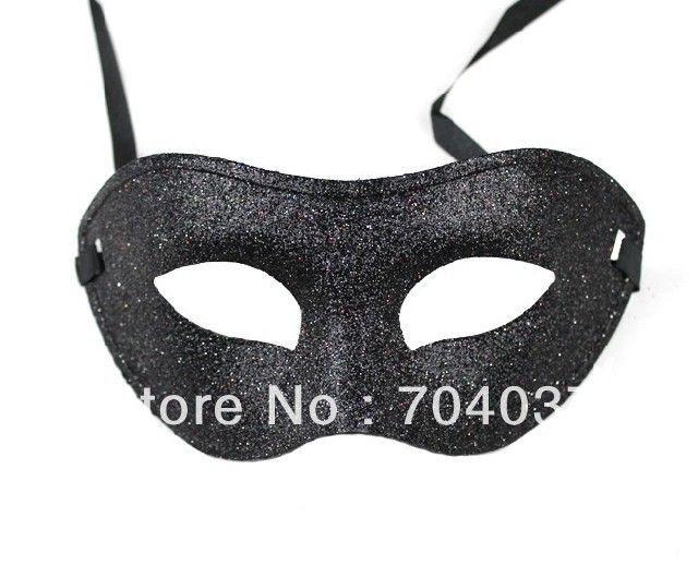 ( 200 шт./лот ) ручной работы наполовину сплошной цвет сверкали пластиковые женская и мужская карнавальные маски марди гра маски