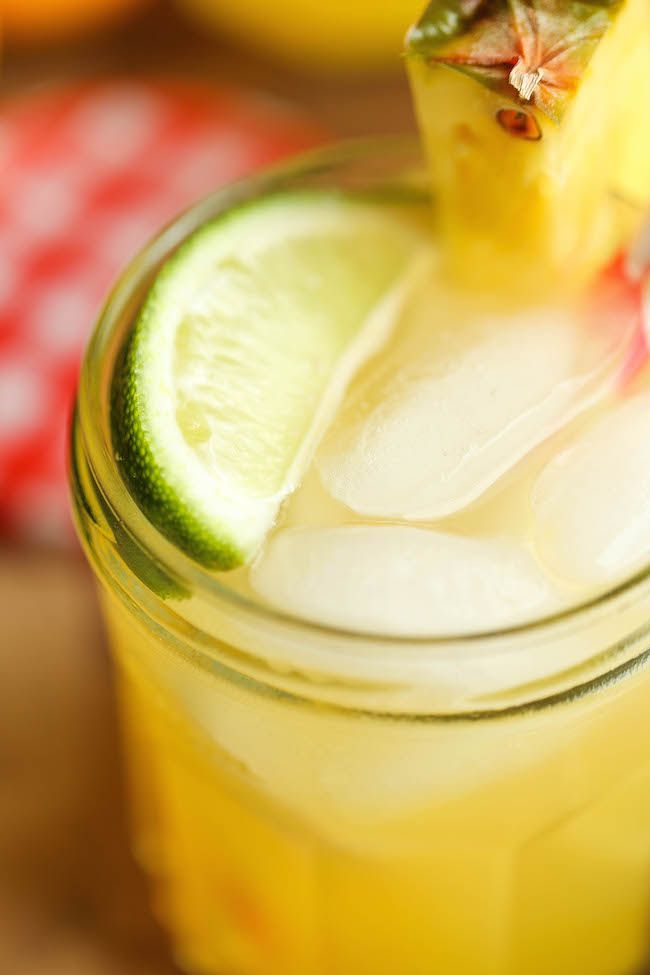 Pineapple Lemonade - So refreshing, so sweet, so tangy and just so wonderfully tropical. It's also unbelievably easy to whip up! from @damndelicious