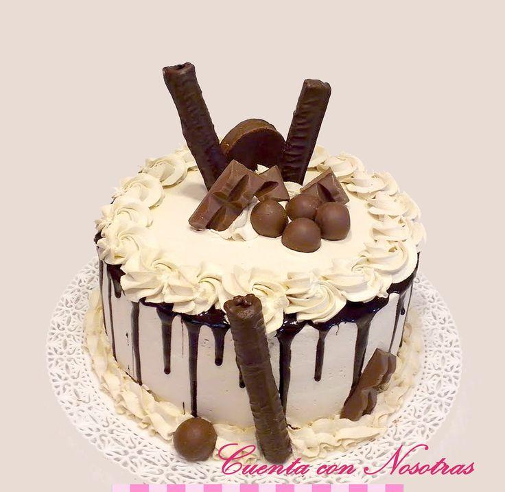 Torta de Crema, Cream Cake, Drip Cake, Cuenta con Nosotras