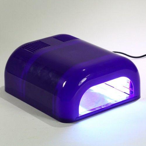 UV Lampe Nageltrockner Lichthärtungsgerät profi 36W lila