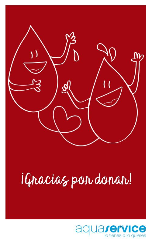 Desde Aquaservice nos sumamos a la celebración del Día Mundial del Donante de Sangre para agradecer su solidaridad. ¡Repinea si te unes!