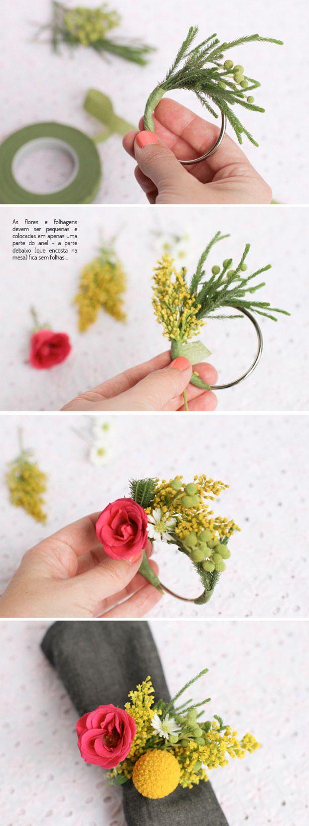 Aprenda a fazer um lindo anel de guardanapo. Veja mais…