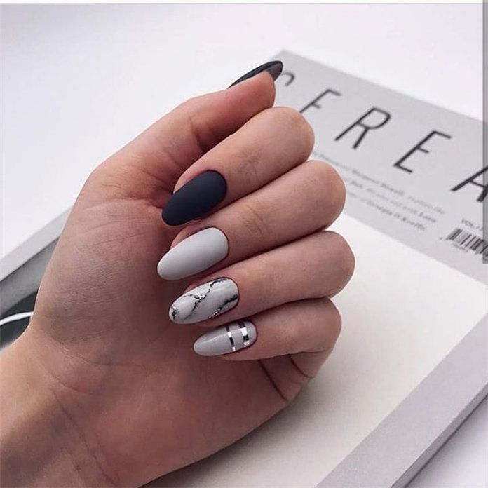 pretty winter nail design ideas