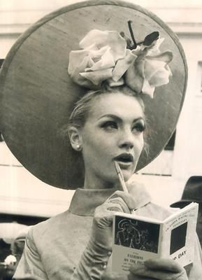 Vintage race wear   At the 1964 Melbourne Cup Back when a lady still wore gloves and stockings when she left the house