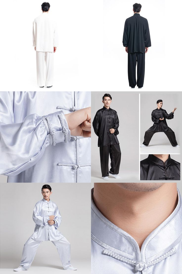 [Visit to Buy] New Arrival Black/White Customized women&men tai chi clothing sets kung fu clothes martial arts uniforms suits costumes uniforms #Advertisement