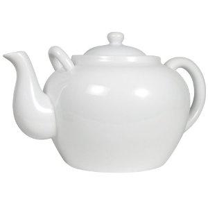 Harold Import Large White Hostess Teapot : traditional