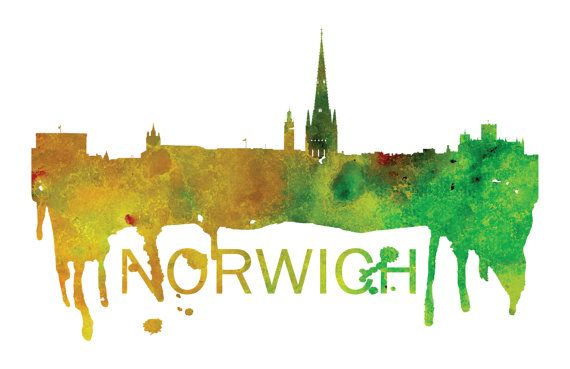 Norwich Art, Norwich Skyline, Norwich map, Norwich skyline, Norwich map print  A beautiful Watercolor Art print of Norwich, United Kingdom. Perfect for an office or a gift to one of your friends. This is one vacation you do not want to miss! :::Print Details::: * Prints are printed with high quality ink on high quality paper (100lb). *Posters includes 1/8in bleed (border) around poster * Colors may vary slightly based on your computer monitor settings. * Frame and matte are not included...