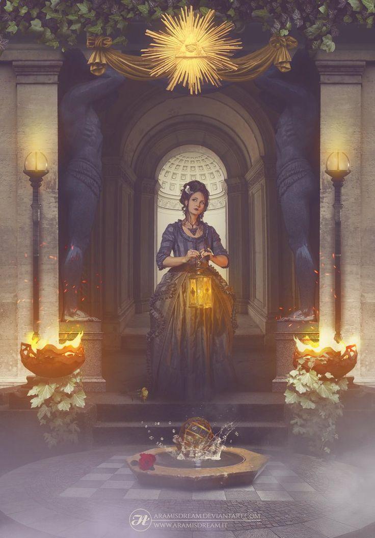 La promenade alchimique by Aramisdream.deviantart.com on @DeviantArt  #albedo #alchemical #alchemist #alchemy #arch #architecture #brazier #chessboard #dark #digital #digitalart #digitalillustration #elements #eyeofgod #fog #fountain #freak #freemason #garden #goldeneye #initiation #ivy #labyrinth #lantern #mage #magic #misty #mystic #mystical #naturalelements #nature #nigredo #photomanip #photomanipulation #pillars #promenade #roses #rubedo #secrets #sorceress #strange #symbol #symbolism…