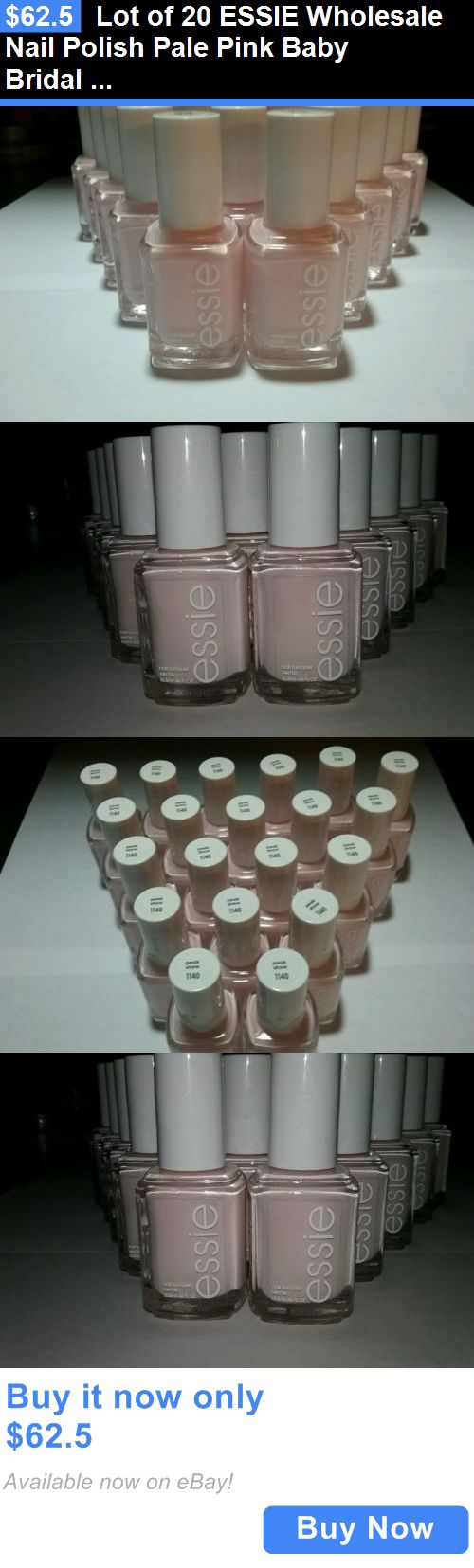 Nail Polish: Lot Of 20 Essie Wholesale Nail Polish Pale Pink Baby Bridal Shower Party Favor BUY IT NOW ONLY: $62.5