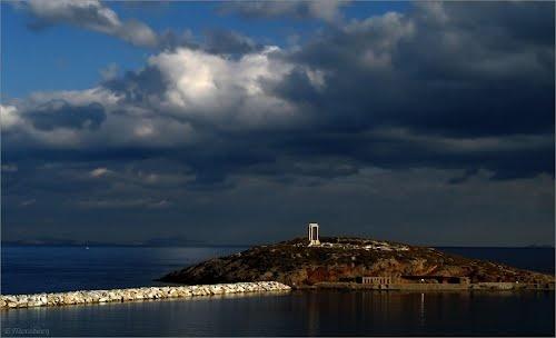 The gateway to Apollo's temple (Naxos, Cyclades, Greece)