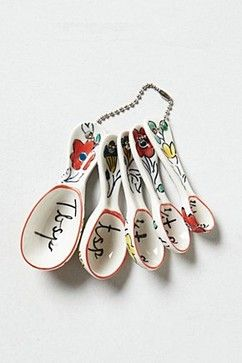 Flowerpatch Measuring Spoons eclectic measuring cups and spoons