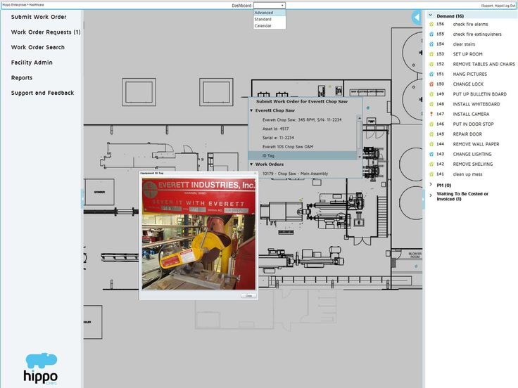 20 best hippo cmms software images on pinterest software for Interactive floor plan software