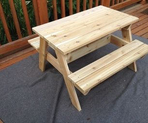 This is an easy-to-build picnic table sized for kids up to age 6 or so.   I tried to keep it a standard size, with easy cuts and a simple structure.  ...